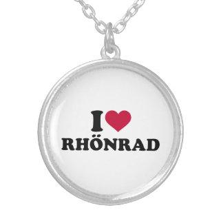 Colar Banhado A Prata Eu amo Rhönrad