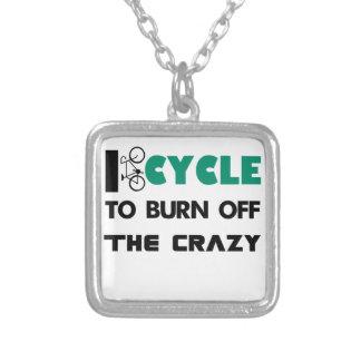 Colar Banhado A Prata Eu dou um ciclo para consumir a louca, bicicleta