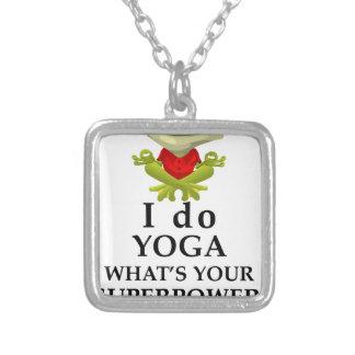 Colar Banhado A Prata eu faço a ioga que s seu poder super