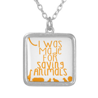 Colar Banhado A Prata Eu fui feito para animais de salvamento