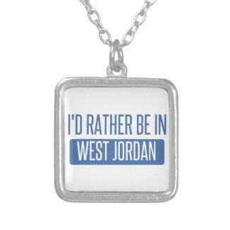 Colar Banhado A Prata Eu preferencialmente estaria em Jordão ocidental