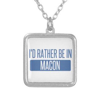 Colar Banhado A Prata Eu preferencialmente estaria em Macon