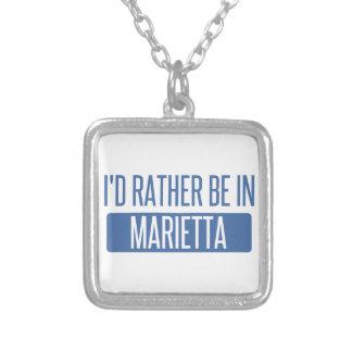 Colar Banhado A Prata Eu preferencialmente estaria em Marietta