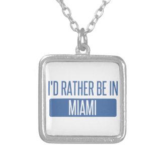 Colar Banhado A Prata Eu preferencialmente estaria em Miami