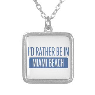 Colar Banhado A Prata Eu preferencialmente estaria em Miami Beach