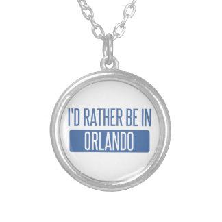 Colar Banhado A Prata Eu preferencialmente estaria em Orlando