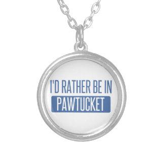 Colar Banhado A Prata Eu preferencialmente estaria em Pawtucket