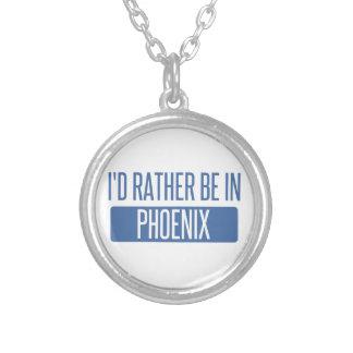Colar Banhado A Prata Eu preferencialmente estaria em Phoenix