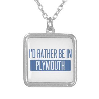 Colar Banhado A Prata Eu preferencialmente estaria em Plymouth