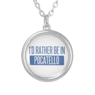 Colar Banhado A Prata Eu preferencialmente estaria em Pocatello