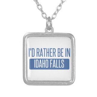Colar Banhado A Prata Eu preferencialmente estaria em quedas de Idaho