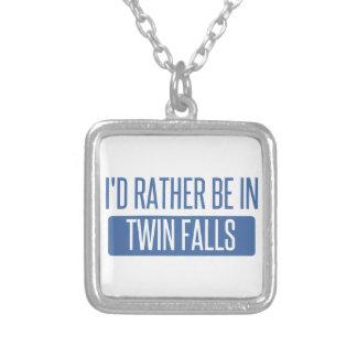 Colar Banhado A Prata Eu preferencialmente estaria em quedas gêmeas