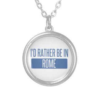 Colar Banhado A Prata Eu preferencialmente estaria em Roma