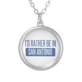 Colar Banhado A Prata Eu preferencialmente estaria em San Antonio