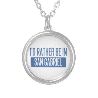 Colar Banhado A Prata Eu preferencialmente estaria em San Gabriel
