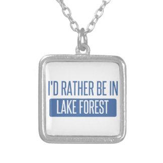 Colar Banhado A Prata Eu preferencialmente estaria na floresta do lago