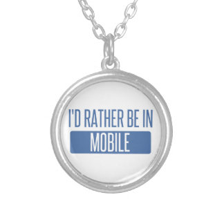 Colar Banhado A Prata Eu preferencialmente estaria no móbil
