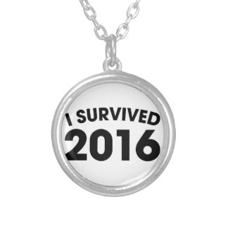 Colar Banhado A Prata Eu sobrevivi a 2016
