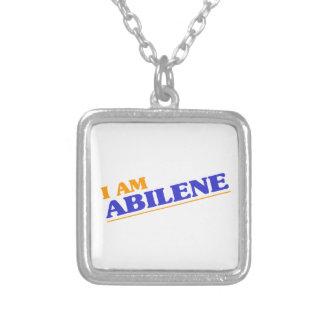 Colar Banhado A Prata Eu sou Abilene
