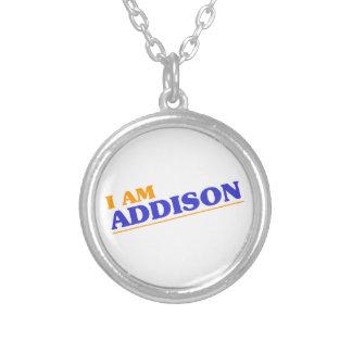 Colar Banhado A Prata Eu sou Addison