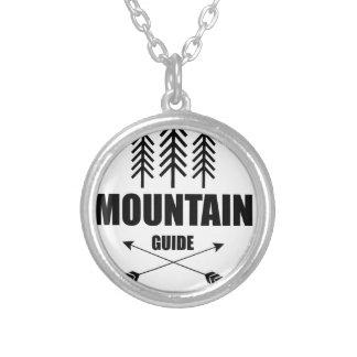 Colar Banhado A Prata Excursão e aventura, guia da montanha