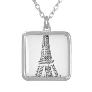Colar Banhado A Prata excursão Eiffel