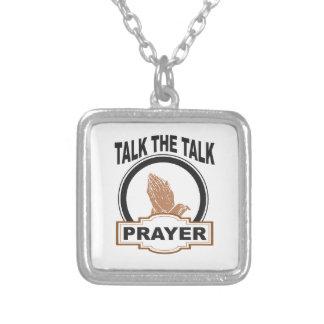 Colar Banhado A Prata Fale a oração da conversa