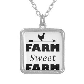 Colar Banhado A Prata fazenda doce da fazenda
