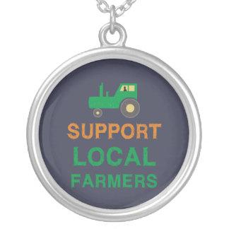 Colar Banhado A Prata Fazendeiros do Local do apoio
