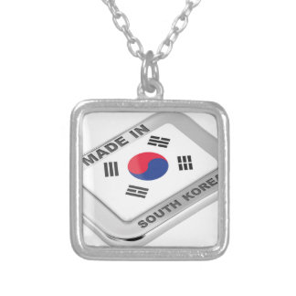 Colar Banhado A Prata Feito em Coreia do Sul