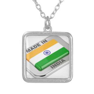 Colar Banhado A Prata Feito em India