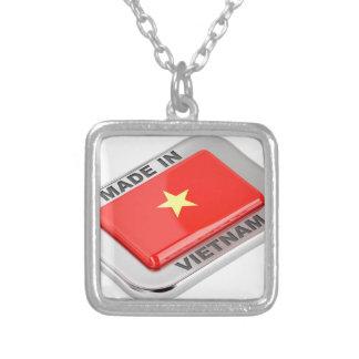 Colar Banhado A Prata Feito no crachá brilhante de Vietnam