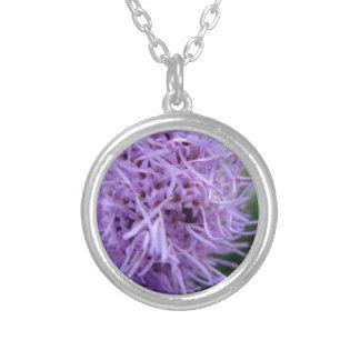 Colar Banhado A Prata Flor da violeta da aranha do tentáculo