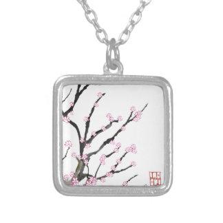 Colar Banhado A Prata Flor de cerejeira 23 de Sakura, Tony Fernandes