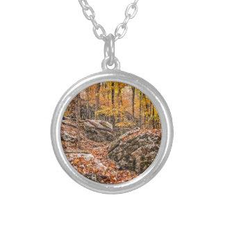 Colar Banhado A Prata Floresta bonita do outono