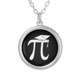 Colar Banhado A Prata Formando do Pi da matemática