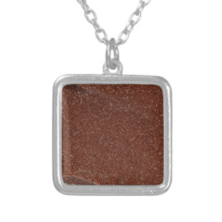 Colar Banhado A Prata Foto macro do vidro de Goldstone