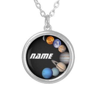 Colar Banhado A Prata Fotos do montagem JPL do sistema solar -