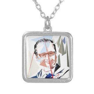 Colar Banhado A Prata François Hollande