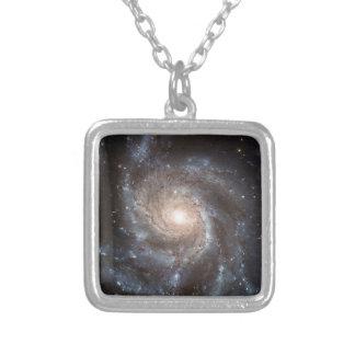 Colar Banhado A Prata Galáxia espiral