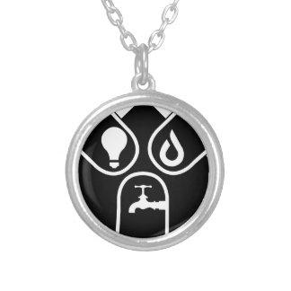 Colar Banhado A Prata Gás de água elétrico