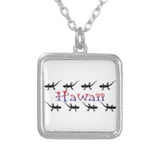 Colar Banhado A Prata gecos do hawai