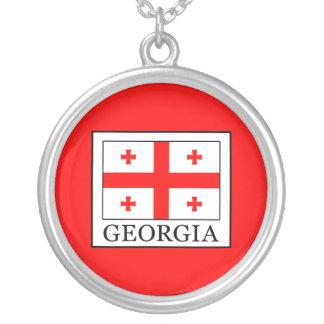 Colar Banhado A Prata Geórgia