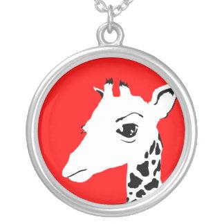 Colar Banhado A Prata girafa