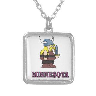 Colar Banhado A Prata Grupo de Minnesota
