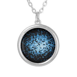Colar Banhado A Prata Grupo grande de vírus azuis no mycorscope