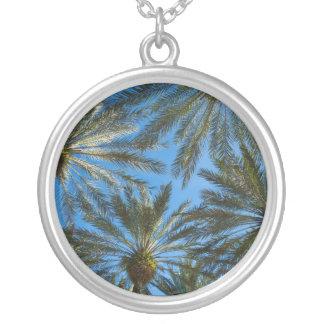 Colar Banhado A Prata Guarda-chuva das palmeiras