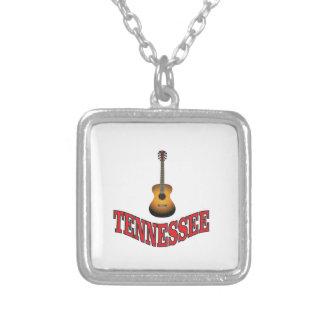 Colar Banhado A Prata Guitarra de Tennessee