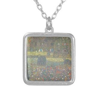 Colar Banhado A Prata Gustavo Klimt - casa de campo pela arte de