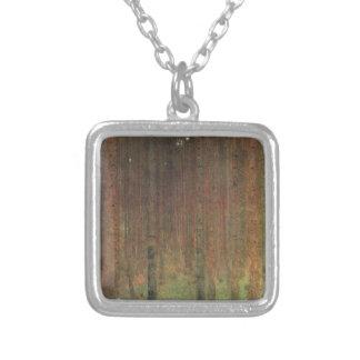 Colar Banhado A Prata Gustavo Klimt - floresta do pinho